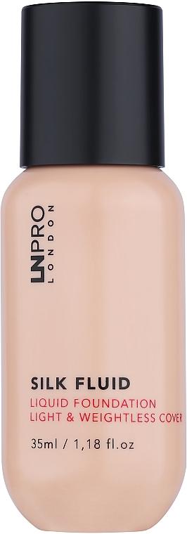 Тональная основа для лица с сатиновым финишем - LN Pro Silk Fluid Liquid Foundation Light & Weightless Cover
