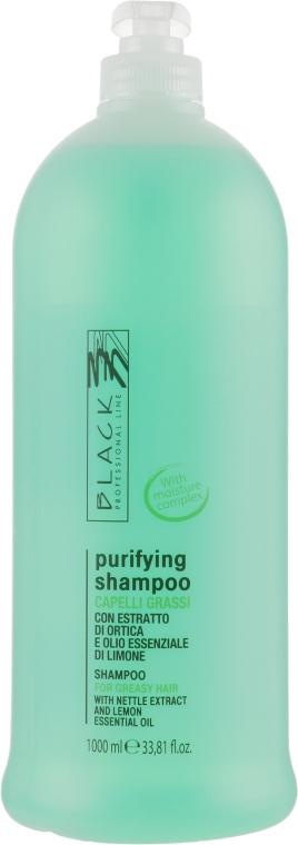 Нормализующий шампунь для жирных волос - Black Professional Line Sebum-Balancing Shampoo