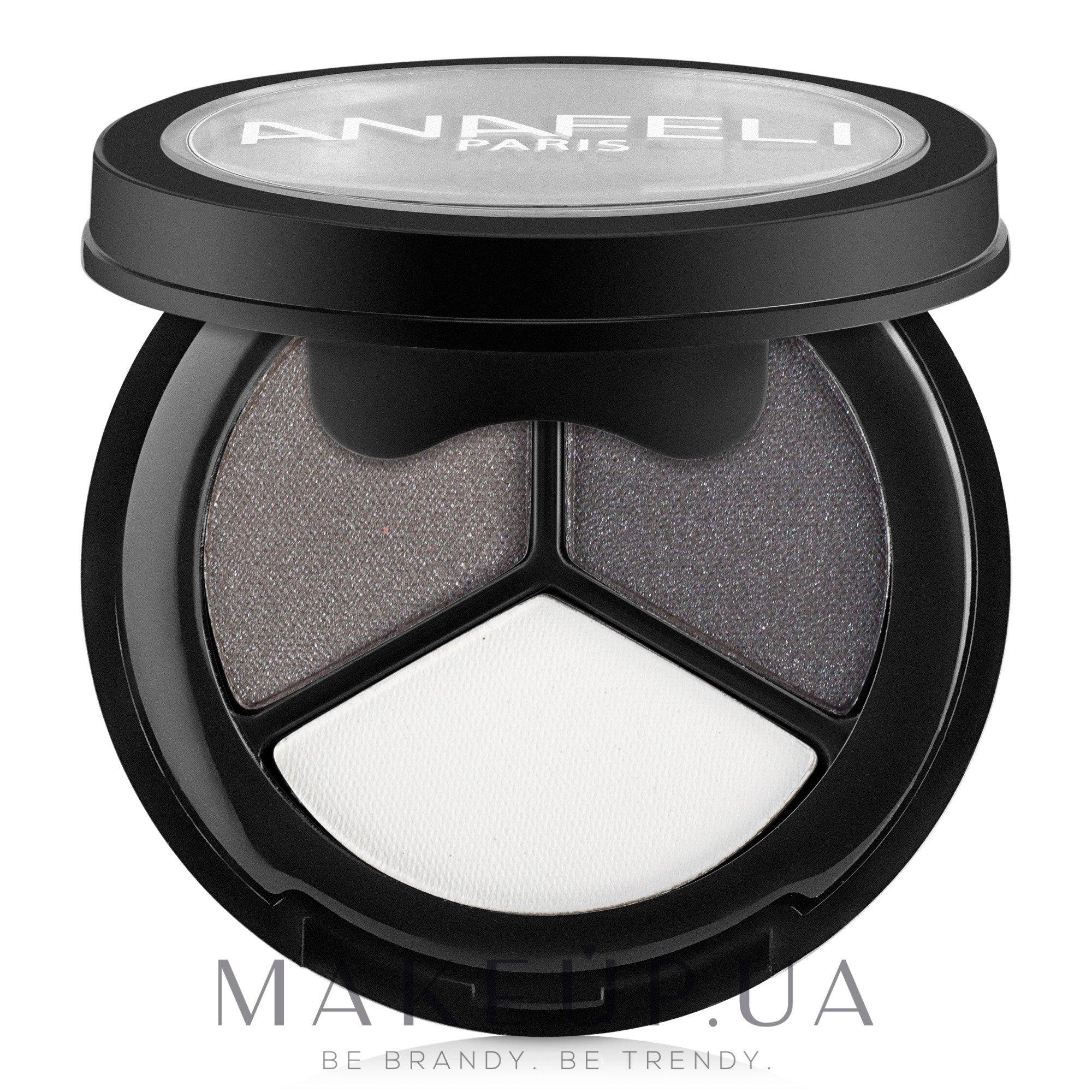 Компактные тени для век - Anafeli Trio Eyeshadows — фото 01