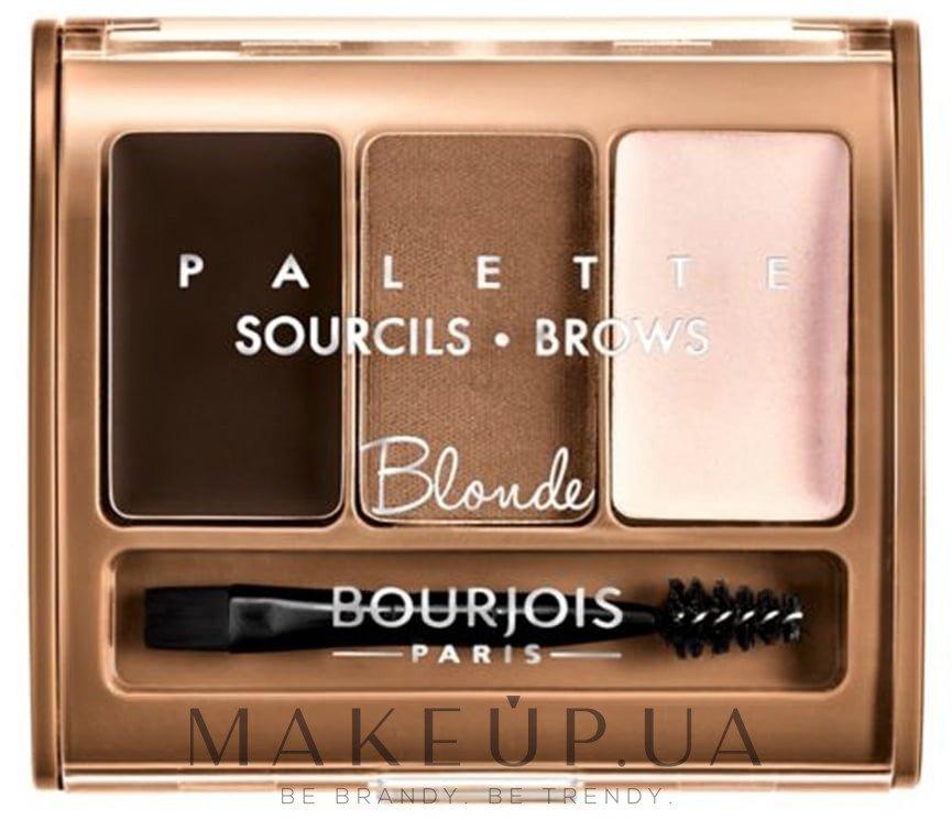 Набор для моделирования бровей - Bourjois Brow Palette — фото 01 - Blonde