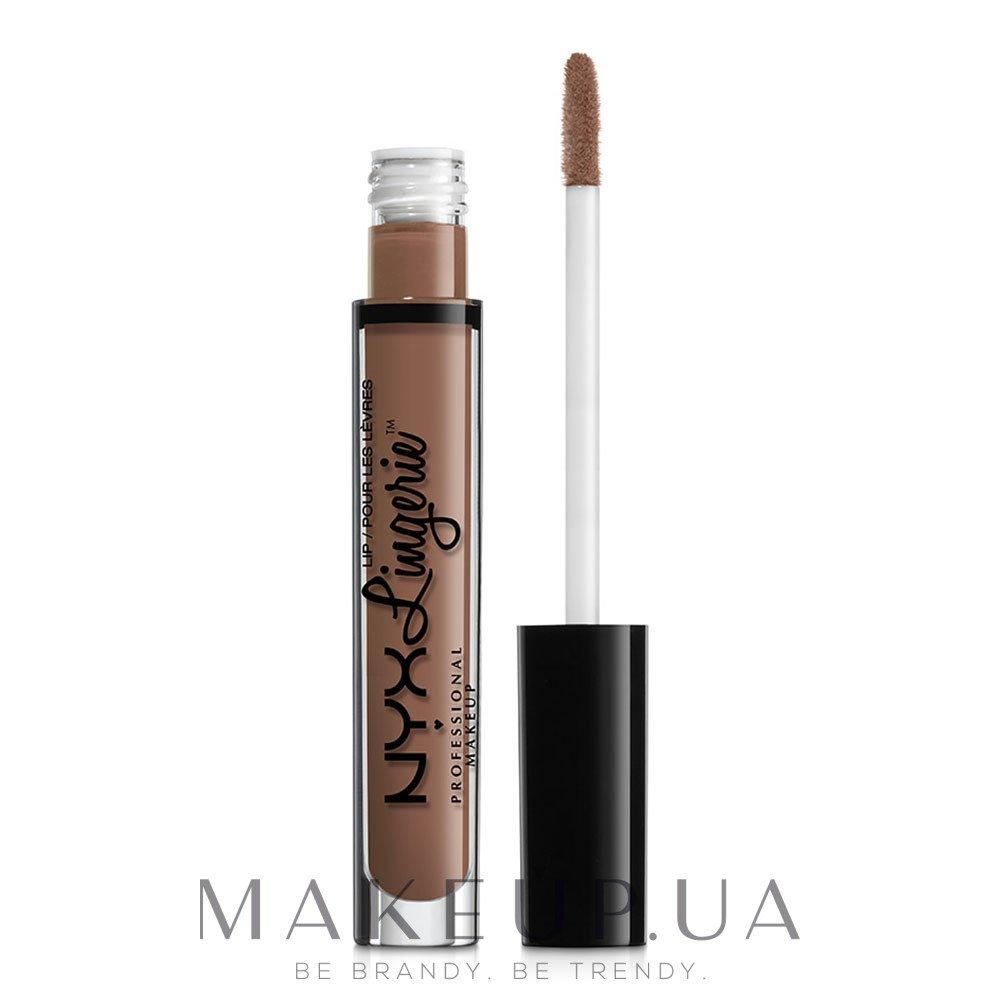 Жидкая матовая помада - NYX Professional Makeup Lip Lingerie Liquid Lipstick — фото 01 - Honeymoon