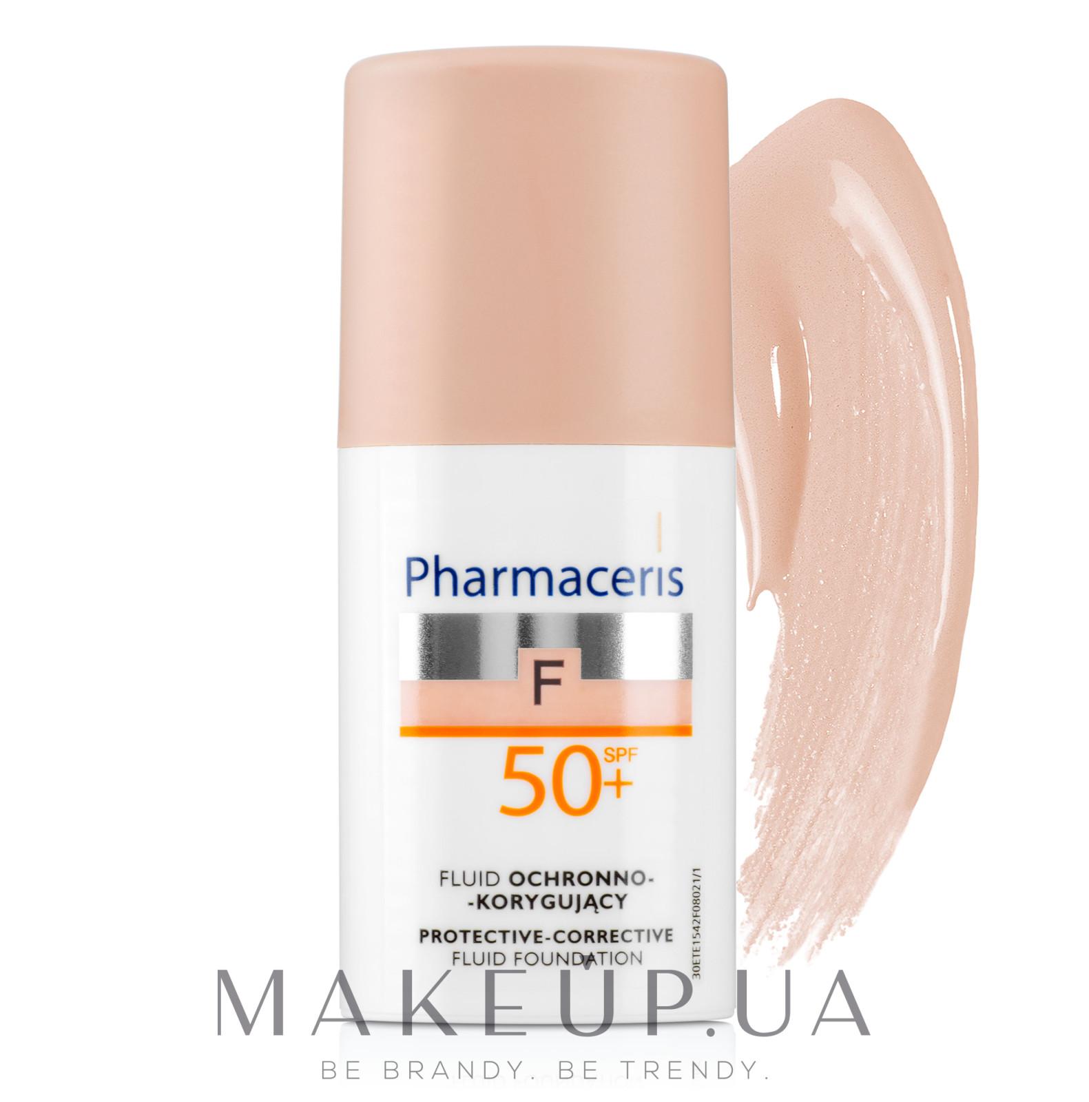 Защитный тональный флюид - Pharmaceris F Protective-Corrective Fluid Foundation SPF 50+ — фото 01 - Ivory