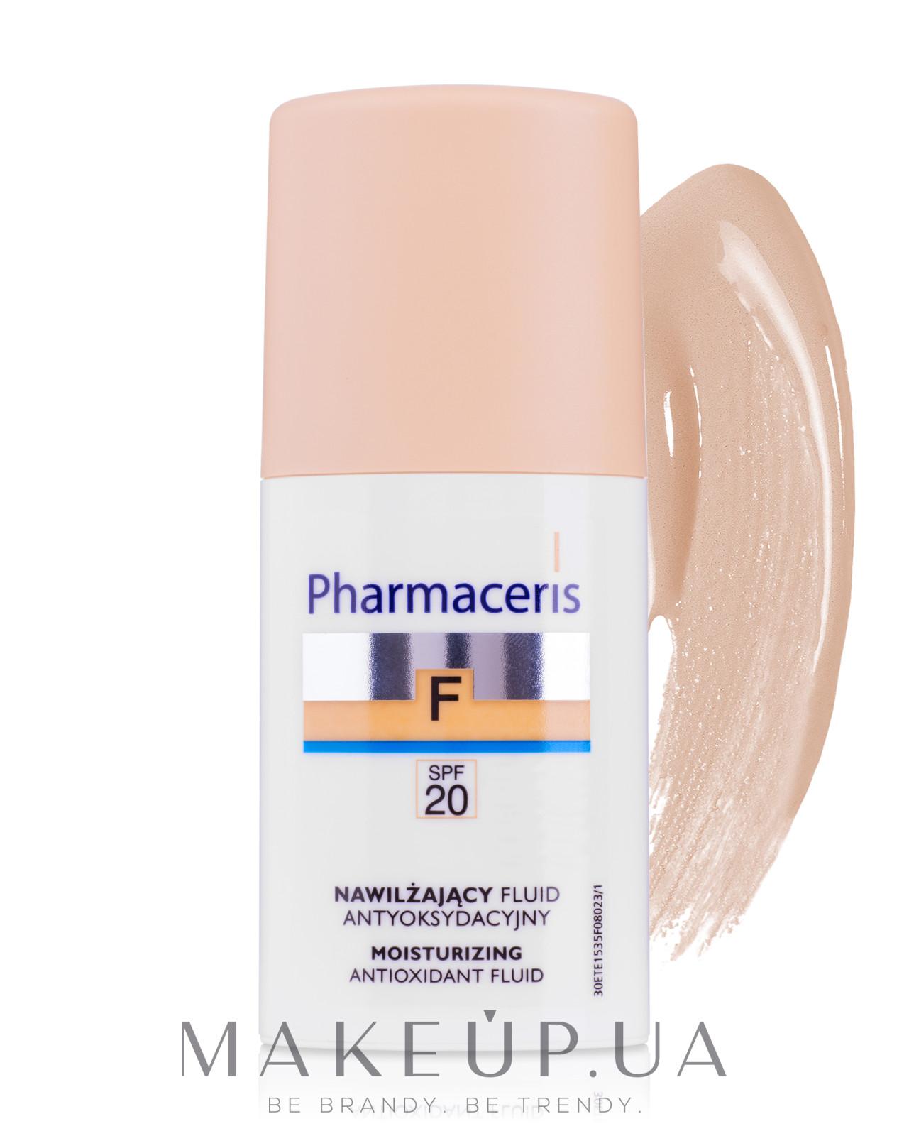 Увлажняющий тональный флюид SPF20 - Pharmaceris F Moisturizing Fluid Foundation SPF20 — фото 01 - Ivory
