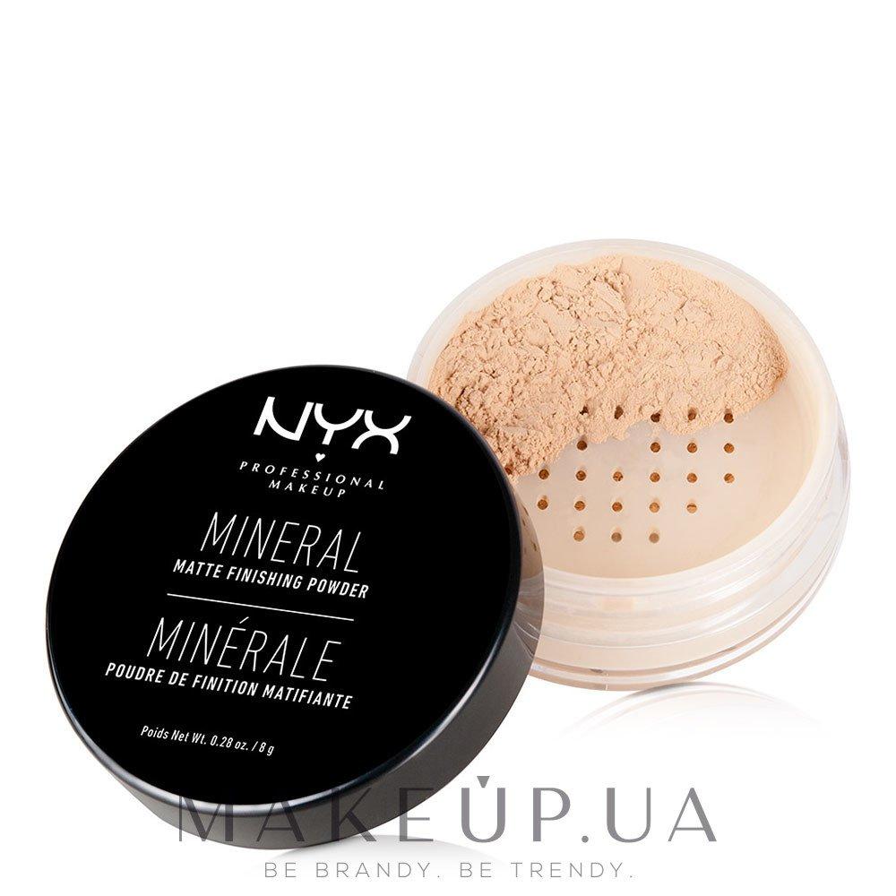 Минеральная финишная пудра - NYX Professional Makeup Mineral Matte Finishing Powder — фото 01 - Light / Medium