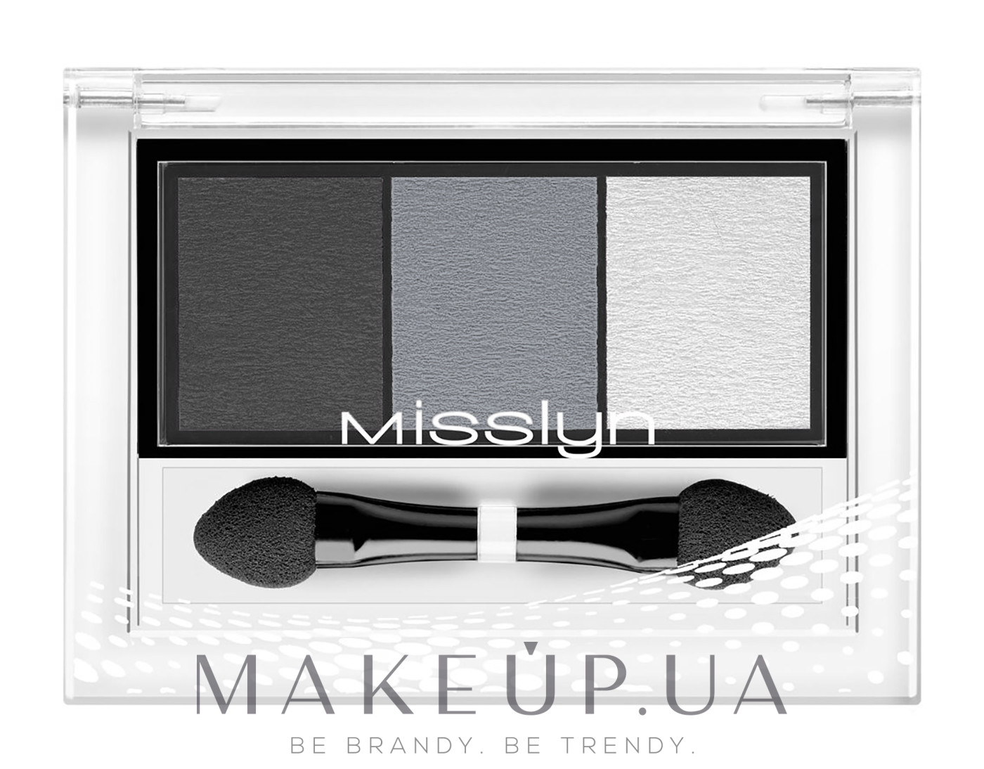 "Тени для век ""Трио"" - Misslyn High Shine Trio Eyeshadow — фото 01 - Little black dress - matt"