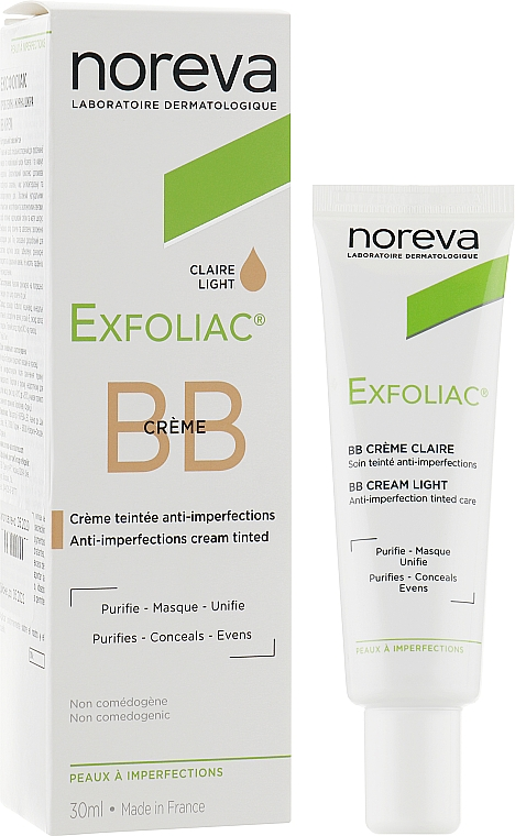 Корректирующий крем - Noreva Laboratoires Exfoliac BB Cream Anti-imperfection Tinted Care