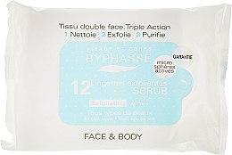Парфумерія, косметика Серветки для обличчя відлущувальні - Byphasse Exfoliating Wipes All Skin Types