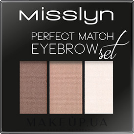 Тени для бровей - Misslyn Eyebrows Perfect Match — фото 02