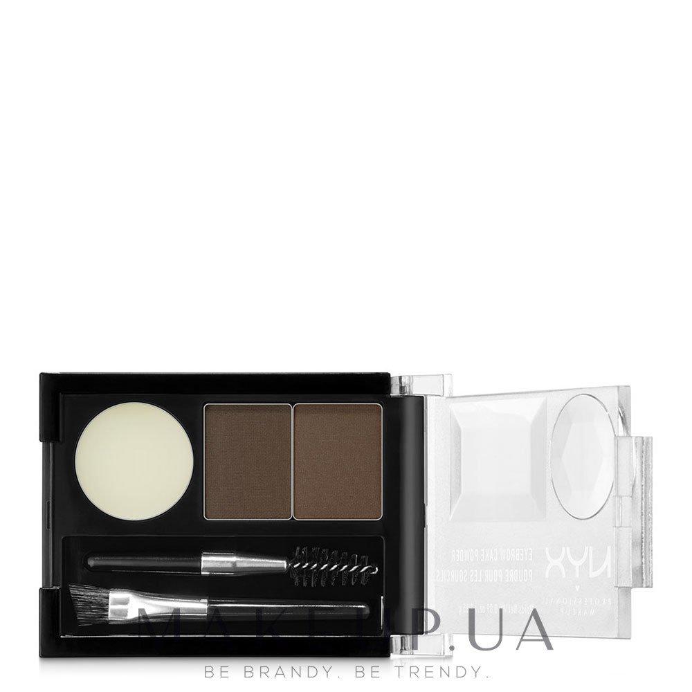 Тени для бровей - NYX Professional Makeup Eyebrow Cake Powder — фото 02 - Dark Brown