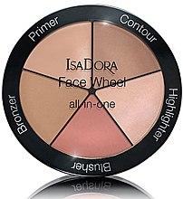 Парфумерія, косметика Палетка для макіяжу 5 в 1 - IsaDora Face Wheel All-In-One