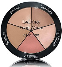 Духи, Парфюмерия, косметика Палетка для макияжа 5 в 1 - IsaDora Face Wheel All-In-One