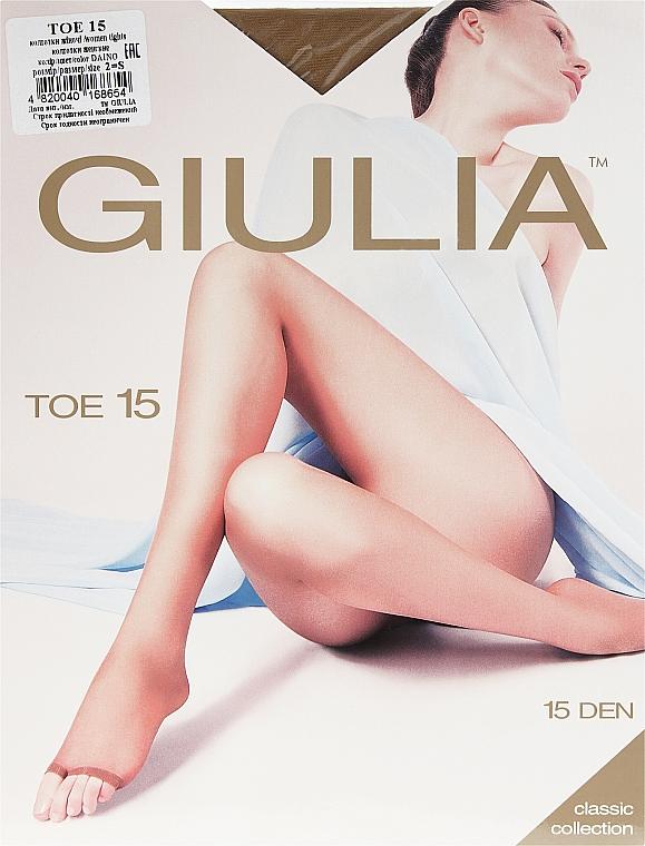 "Колготки для женщин ""Toe"" 15 Den, daino - Giulia"