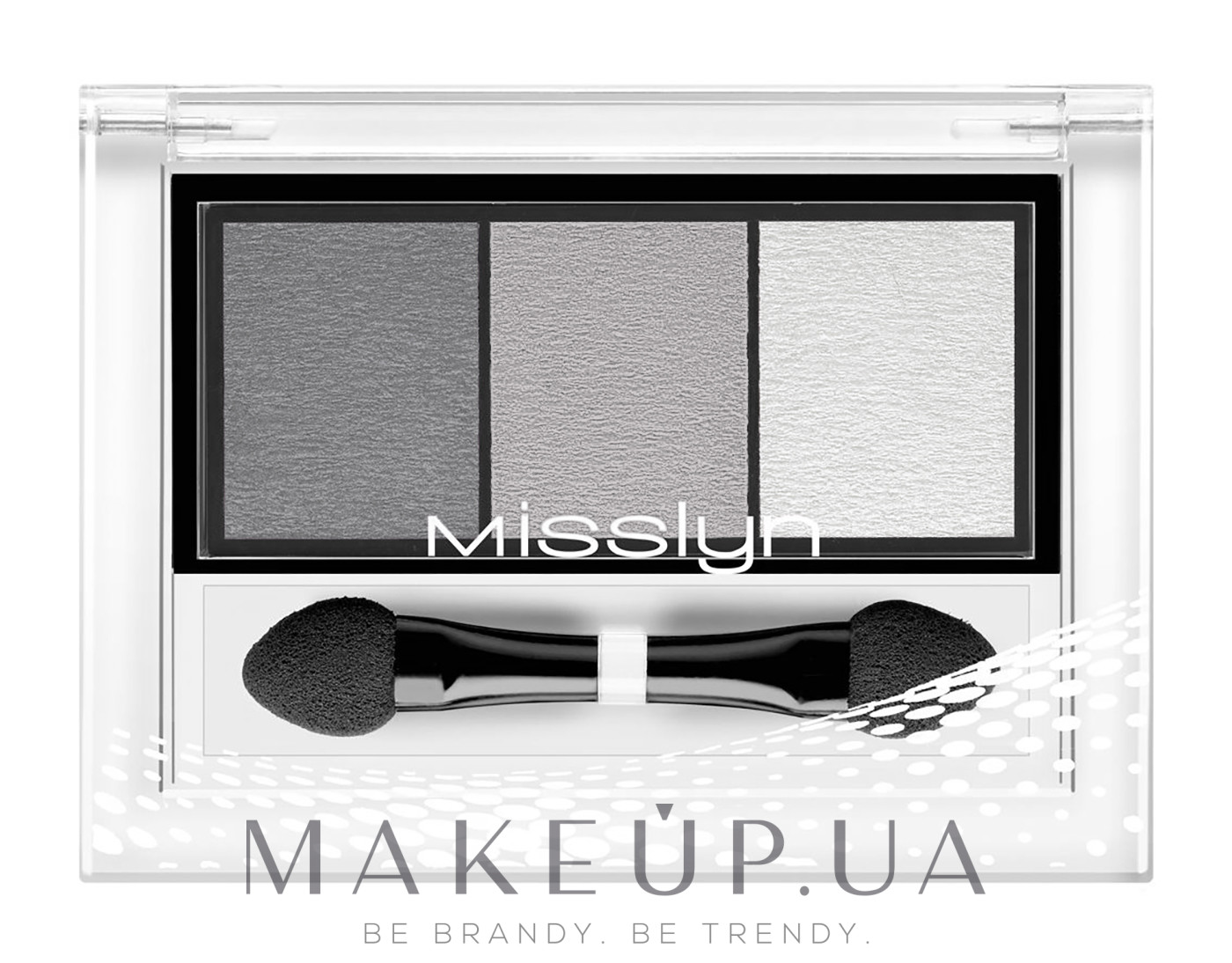 "Тени для век ""Трио"" - Misslyn High Shine Trio Eyeshadow — фото 03 - Classical Highlights"