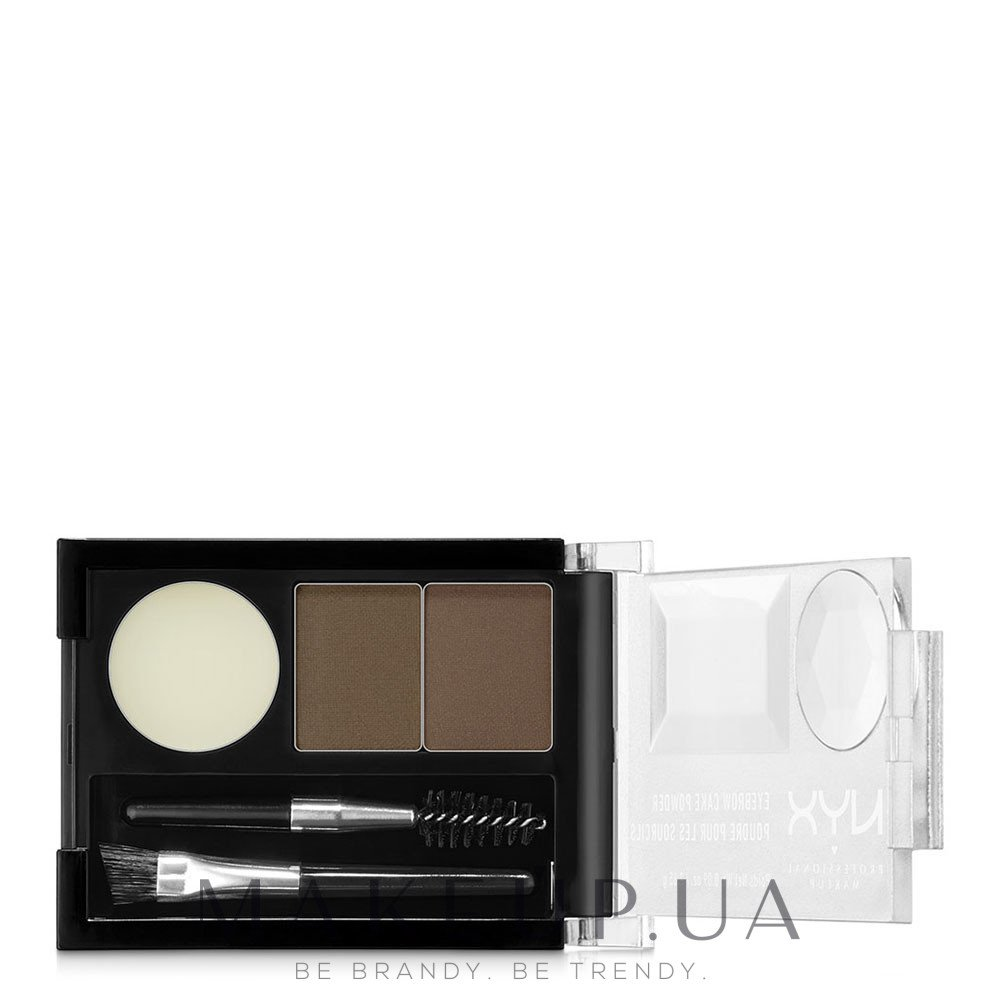 Тени для бровей - NYX Professional Makeup Eyebrow Cake Powder — фото N3