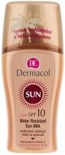 Духи, Парфюмерия, косметика Водостойкое смягчающее молочко-спрей для загара - Dermacol Sun Milk SPF 10