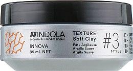 Духи, Парфюмерия, косметика Глина для волос легкой фиксации - Indola Texture Soft Clay