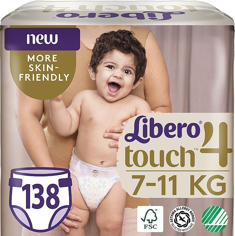Подгузники Touch 4 (7-11 кг), 138 шт - Libero