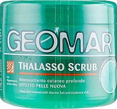 Талассо-скраб для тела с морской солью Мертвого моря и маслами миндаля и пшеницы - Geomar — фото N1