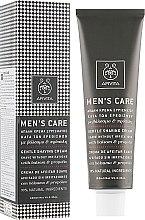 Парфумерія, косметика Делікатний крем для гоління зі звіробоєм і прополісом - Apivita Men men's Care Gentle Shaving Cream With Hypericum & Propolis