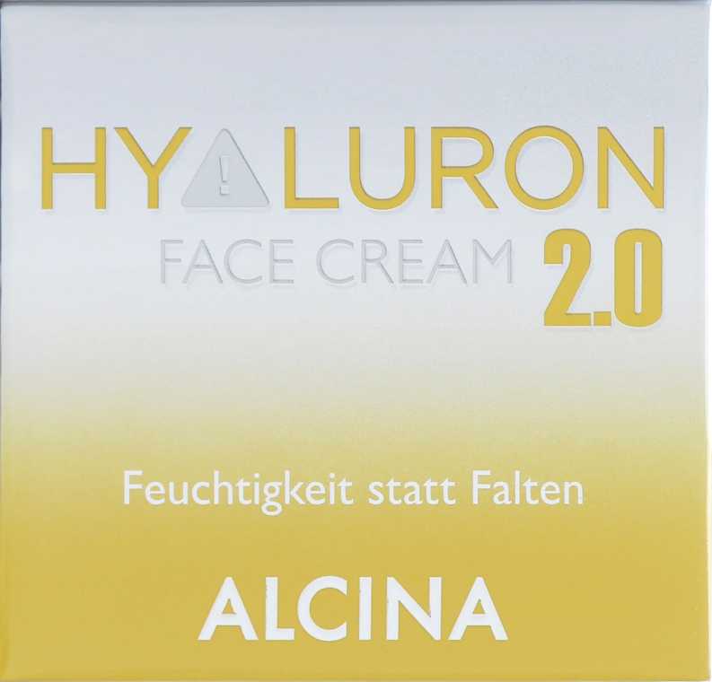 """Крем увлажняющий для лица """"Гиалурон+"""" - Alcina Hyaluron+ Face Cream"""