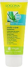 Духи, Парфюмерия, косметика Крем для нормальной и сухой кожи рук с Алоэ - Logona Daily Care Hand Cream Organic Aloe + Verbena