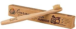 Парфумерія, косметика Дитяча бамбукова зубна щітка, м'яка - Curanatura Bamboo Junior