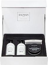 Духи, Парфюмерия, косметика Набор - Balmain Paris Hair Couture Silver Revitalizing Care Set (mask/200ml+h/couture/300ml+shampoo/300ml+brush)