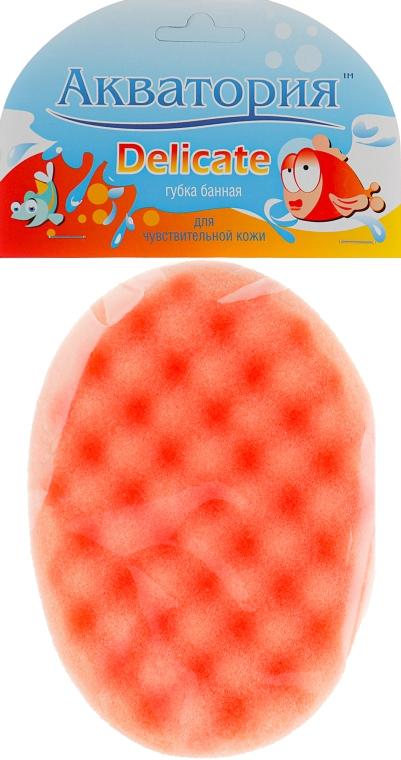 """Губка банная """"Delicate"""", желто-оранжевая - Акватория"""
