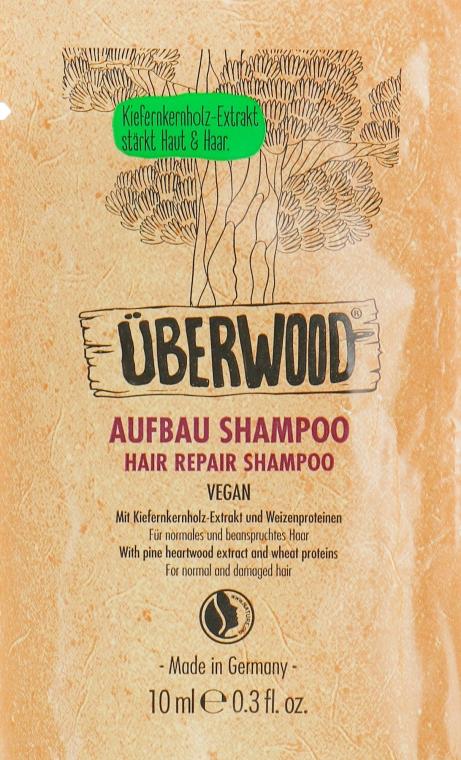 Восстанавливающий шампунь для волос - Uberwood Hair Rapair Shampoo (пробник)