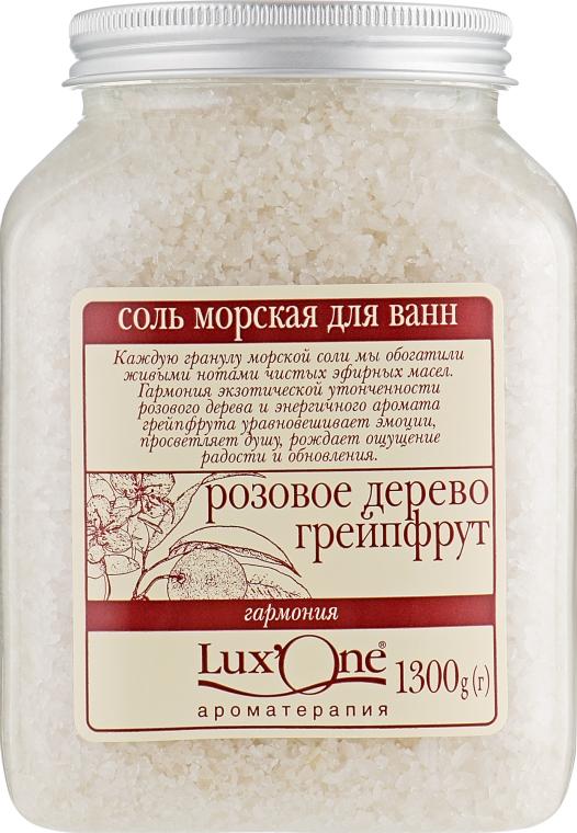 """Соль морская для ванн """"Гармония"""", розовое дерево-грейпфрут - Ароматика Lux'One"""