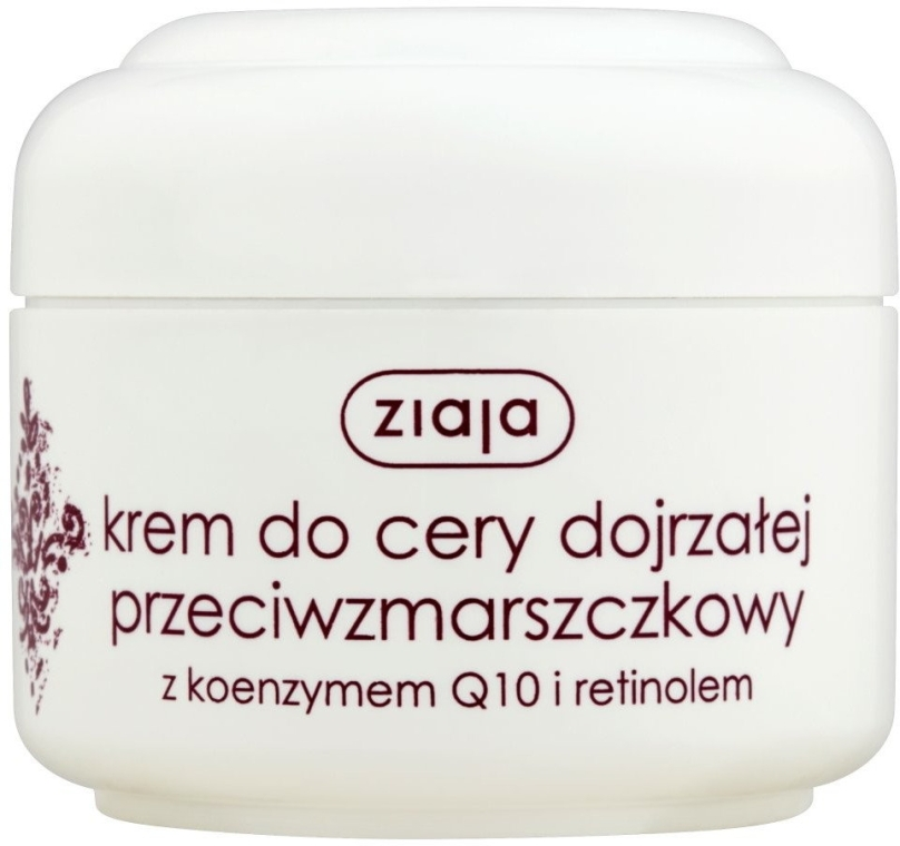 "Крем для лица ""Q10"" против морщин - Ziaja Face Cream"