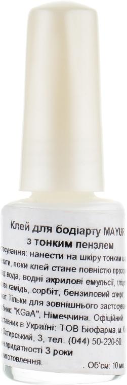 Клей для бодиарта с тонкой кистью - Mayur
