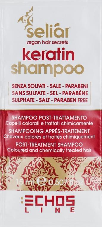 Кератиновый шампунь - Echosline Seliar Keratin Shampoo (пробник)