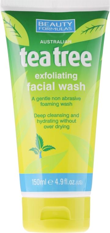 """Гель для умывания """"Чайное дерево"""" - Beauty Formulas Tea Tree Exfoliating Facial Wash"""