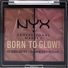 Духи, Парфюмерия, косметика Хайлайтер для лица - NYX Professional Makeup Born To Glow Icy Highlighter