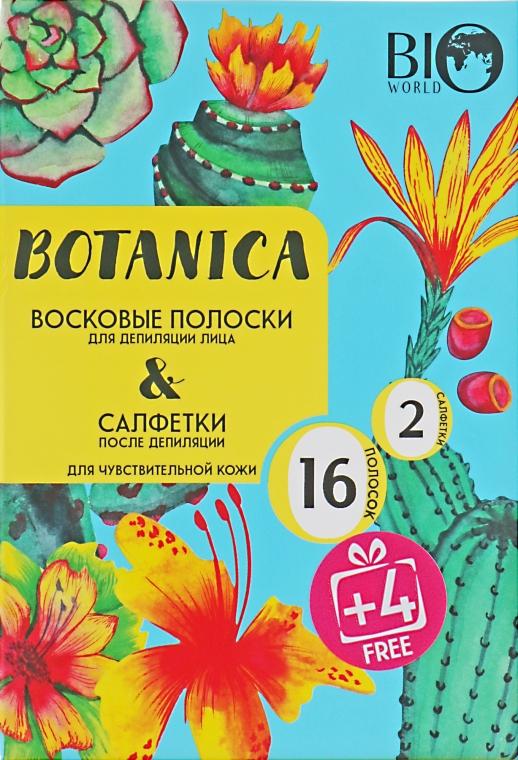 Набор для депиляции чувствительной кожи - Bio World Botanica (полоски/16шт+4шт + саше)