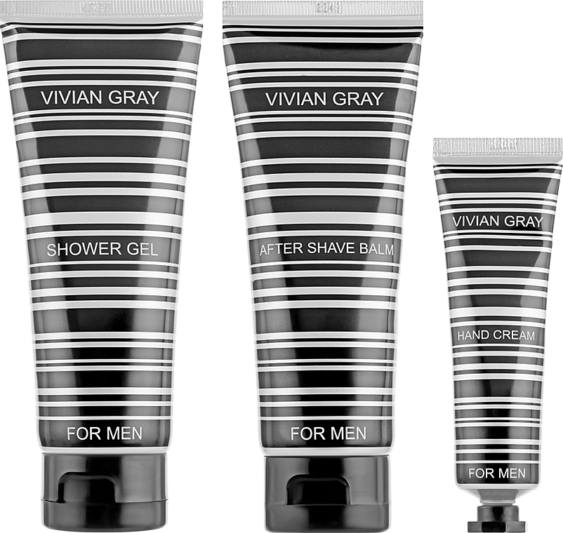 Набор - Vivian Gray For Men (h/cr/30ml + a/sh/balm/100ml + sh/gel/100ml)