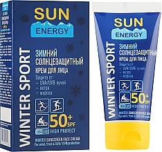 Духи, Парфюмерия, косметика Зимний солнцезащитный крем для лица - Sun Energy Sunscreen Face Cream SPF 50+