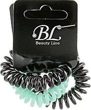 Духи, Парфюмерия, косметика Набор резинок для волос, 405004, черная+мятная+черная - Beauty Line