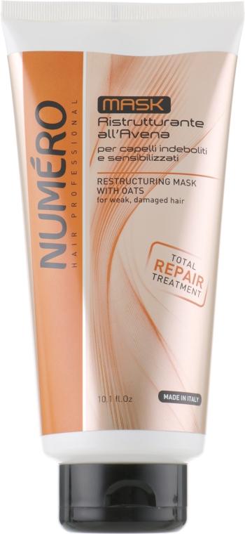 Восстанавливающая маска для волос с экстрактом овса - Brelil Numero Numero Total Repair Mask