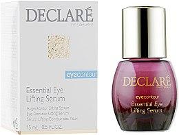 Духи, Парфюмерия, косметика Восстанавливающая лифтинговая сыворотка под глаза - Declare Eye Contour Essential Eye Lifting Serum
