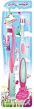 Духи, Парфюмерия, косметика Зубная щетка для детей, 0-6 лет, розовая+бирюзовая - Elkos Tabaluga Kinder