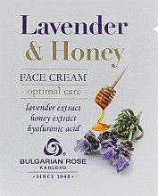 Духи, Парфюмерия, косметика Крем для лица - Bulgarska Rosa Lavender & Honey Cream (пробник)