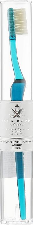 Зубная щетка средней жесткости, темно-синяя - Acca Kappa Tooth Brush Nylon Medium