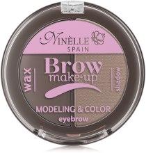 Палетка для моделирования бровей (воск+тени) - Ninelle Brow Make-Up — фото N2