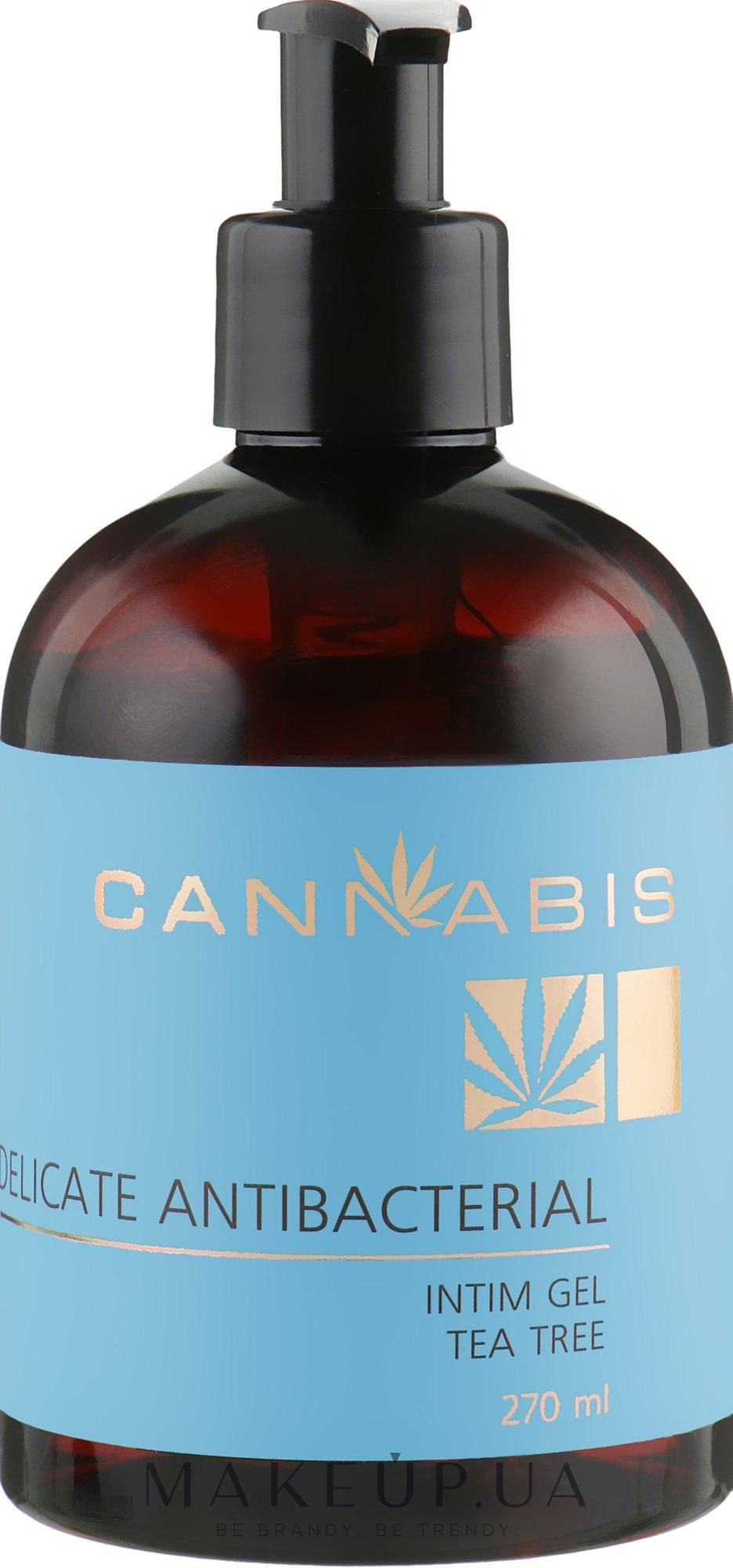 Деликатный антибактериальный гель для интимной гигиены с чайным деревом и экстрактом каннабиса - Cannabis Intim Gel — фото 270ml