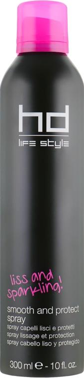 Сухой термозащитный спрей для выпрямления волос - Farmavita HD Life Style Smooth And Protect Spray
