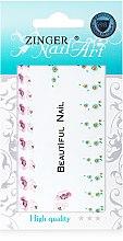 Духи, Парфюмерия, косметика Наклейки для дизайна ногтей, fda-11 - Zinger Nail Art Sticker 111