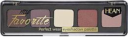 Духи, Парфюмерия, косметика Палетка теней для век - Hean My favorite Eye Shadow Palette