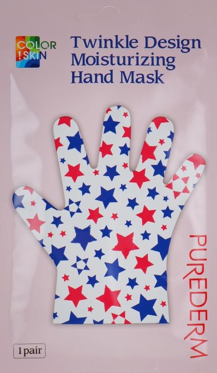 Маска-перчатки для рук с прополисом - Purederm Twinkle Design Moisturizing Hand Mask